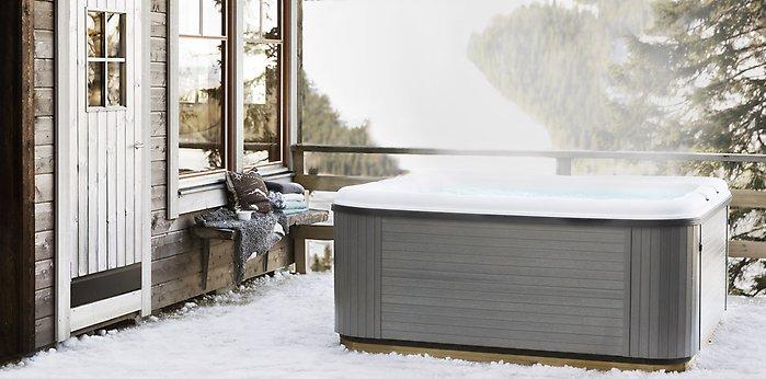 byta vatten i spabad på vintern